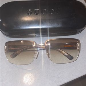 Gucci Sunglasses—brown ombre with gold accents